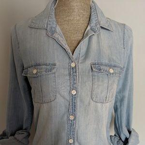 JCrew perfect Chambray shirt size 2